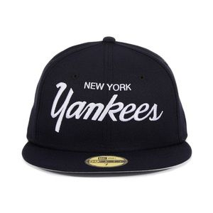 New Era 5950 New York Yankees Script Fitted Hat
